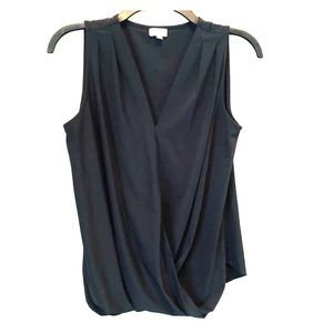 Black Sleeveless Cremieux Top